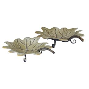Household Essentials 2-piece Decorative Leaf Tray Set