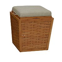 Household Essentials Basketweave Storage Ottoman