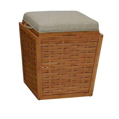 Household Essentials Basketweave Storage Ottoman