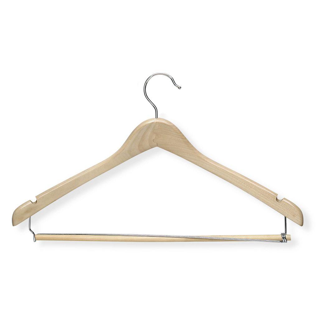 Honey-Can-Do Contoured Suit Hanger & Locking Bar