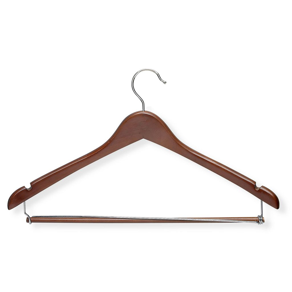 Honey-Can-Do Contoured Suit Hanger & Locking Bar
