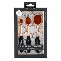 Danielle Creations Shape & Contour Oval Makeup Brush Set
