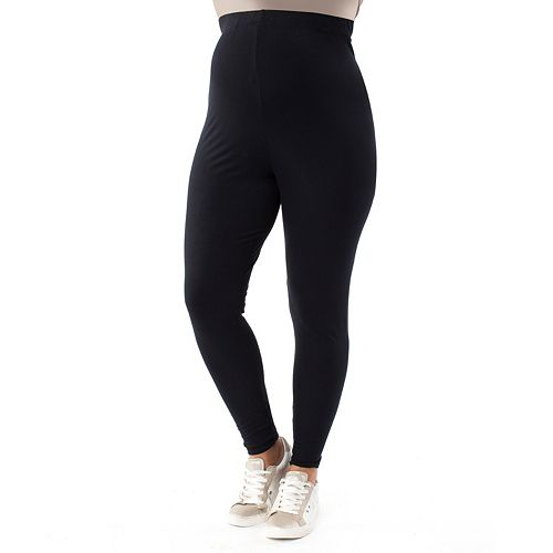 Plus Size Maternity Pip & Vine by Rosie Pope Belly Panel Leggings