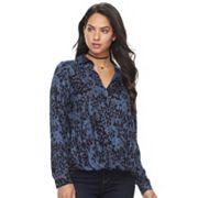 Women's Rock & Republic®  Print Drape High-Low Top