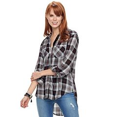 Women's Rock & Republic® Button Front Plaid Shirt