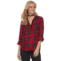 Women's Rock & Republic® Button Front Plaid Shirt