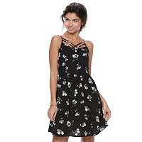 Juniors' SO® Strappy Woven Skater Dress