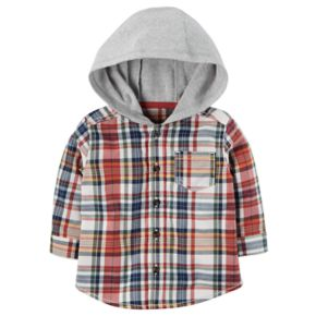 Baby Boy Carter's Hooded Flannel Shirt