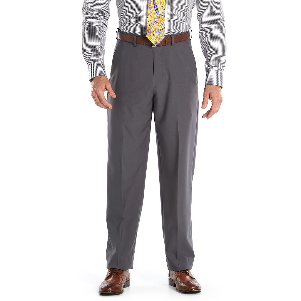 Big & Tall Croft & Barrow® Essential Classic-Fit Flat-Front Dress Pants