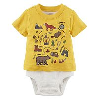 Baby Boy Carter's Mock-Layered Camping Bodysuit