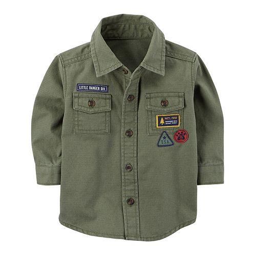 Baby Boy Carter's Ripstop Button-Front Shirt