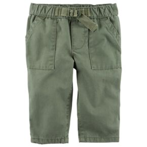 Baby Boy Carter's Green Buckled Canvas Pants