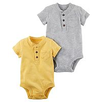 Baby Boy Carter's 2-pk. Pocket Henley Bodysuits