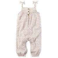 Baby Girl Carter's Crinkle Gauze Jumpsuit