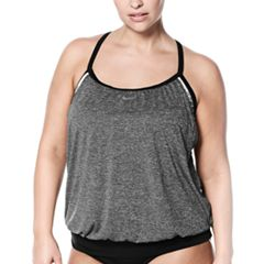 Plus Size Nike Layered Sport Tankini Top