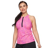 Plus Size Nike High-Neck Tankini Top