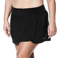 Plus Size Nike Solid Swim Boardskirt