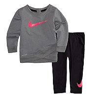 Toddler Girl Nike Dri-FIT Swoosh Tunic & Leggings Set