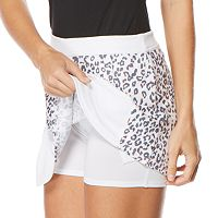 Women's Grand Slam Pleated Animal Print Golf Skort