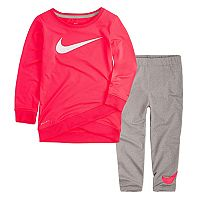 Toddler Girl Nike Dri-FIT Pink Tunic Top & Leggings Set