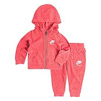 Toddler Girl Nike Heathered Zip-Up Hoodie & Pants Set