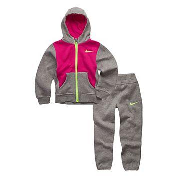 Toddler Girl Nike Fleece Zip-Up Hoodie & Pants Set