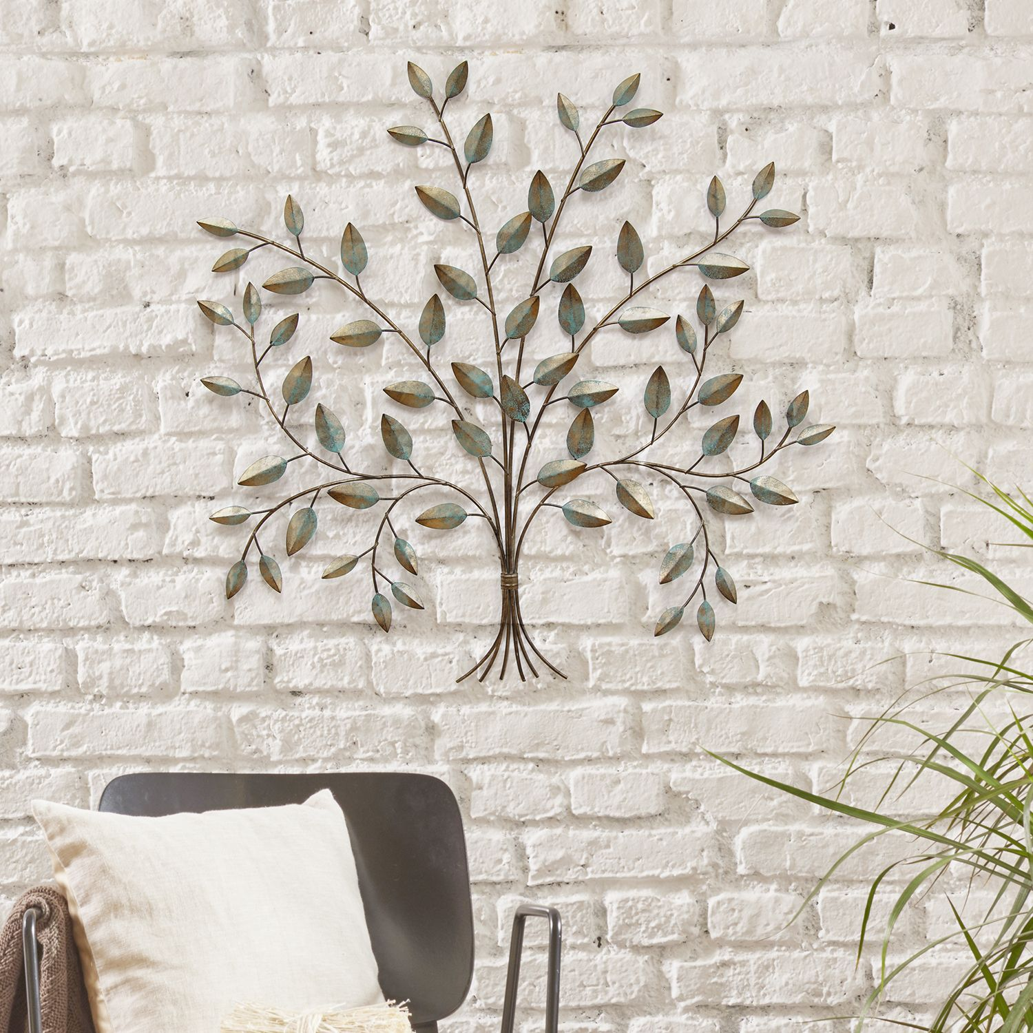 Stratton Home Decor Metal Tree Wall Decor