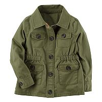 Baby Girl Carter's Olive Utility Jacket