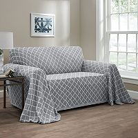 Innovative Textile Solutions Reversible Ogee Loveseat Throw