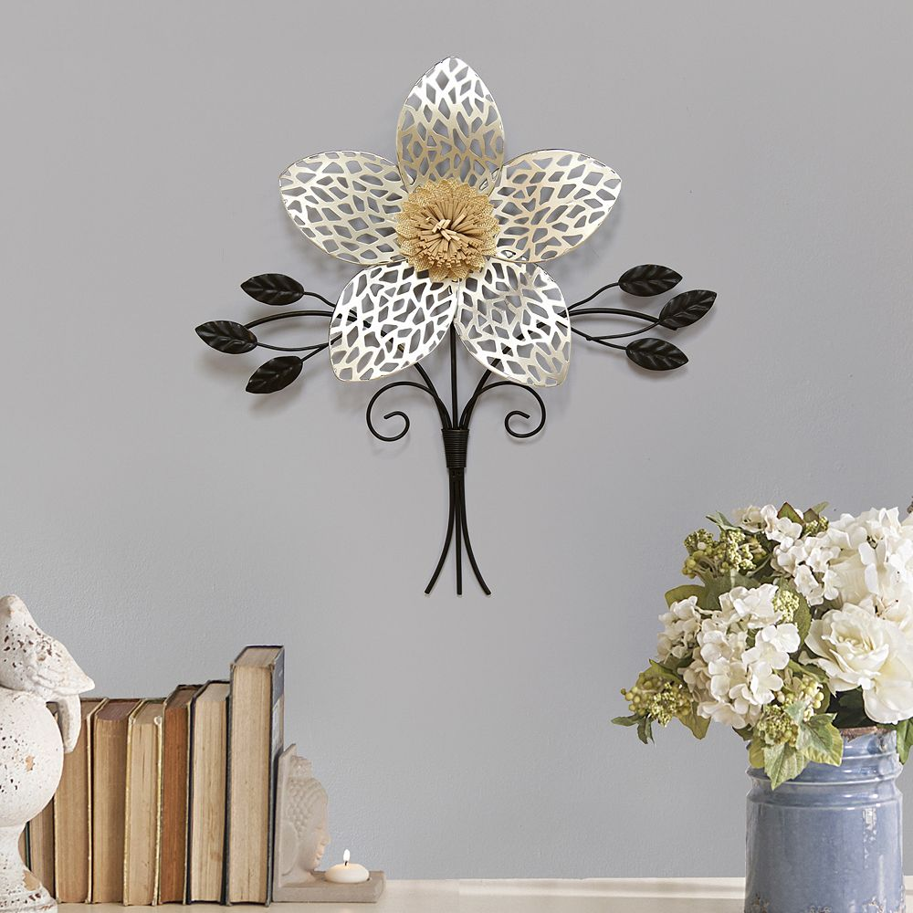 Home decor metal flower wall decor stratton home decor metal flower wall decor amipublicfo Image collections