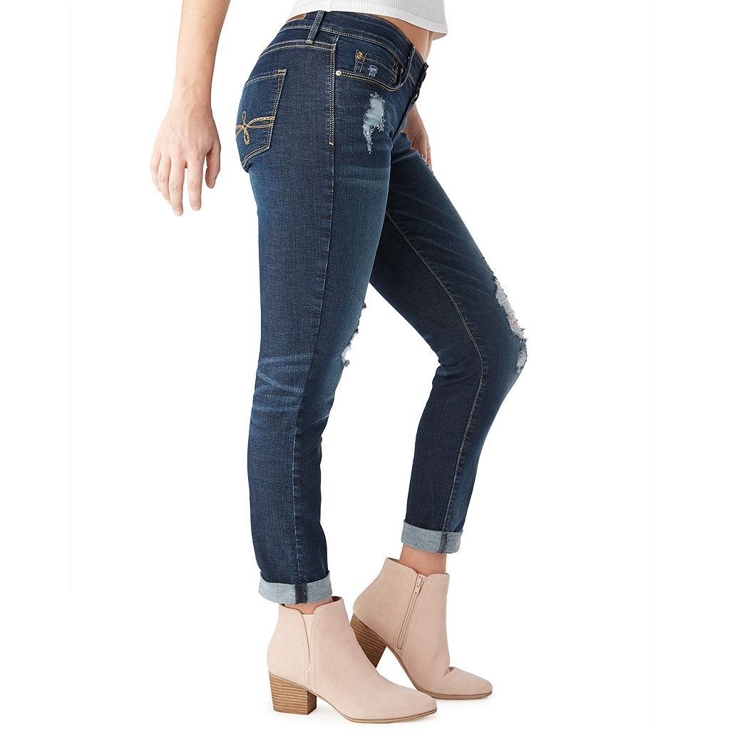 Juniors' DENIZEN from Levi's Ripped Boyfriend Jeans