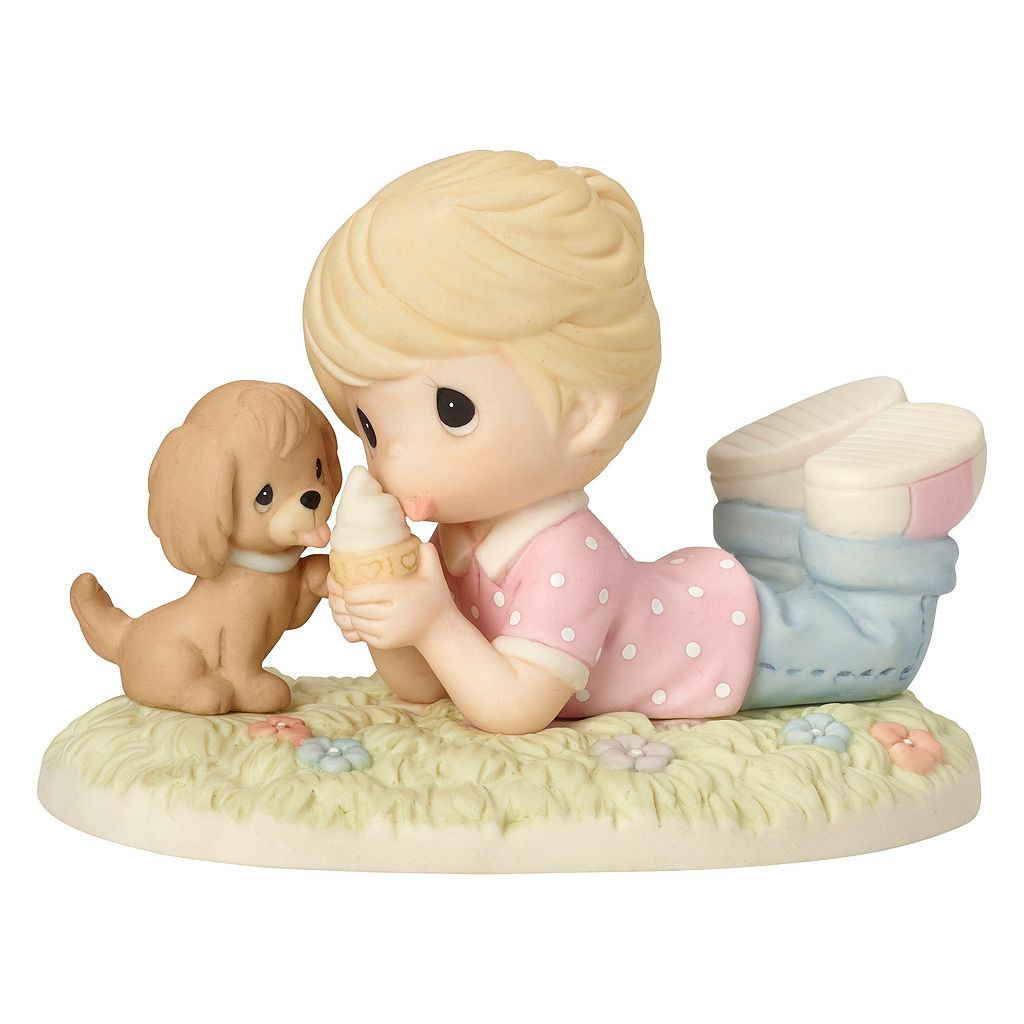 Precious Moments Ice Cream With Joy When You're With Me Boy & Puppy Figurine