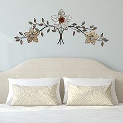 Stratton Home Decor Rustic Metal Flower Wall Decor