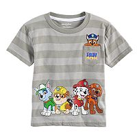 Toddler Boy Paw Patrol Striped Pocket Tee