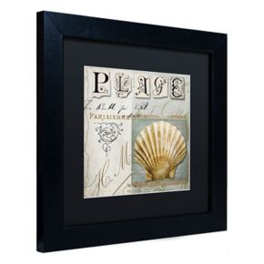 Trademark Fine Art Beach Book I Black Framed Wall Art