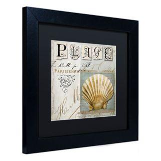 Trademark Fine Art Beach Book I Black Framed Wall Art