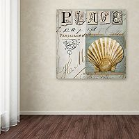 Trademark Fine Art Beach Book I Canvas Wall Art