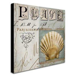Trademark Fine Art Beach Book I Canvas Wall Art