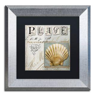 Trademark Fine Art Beach Book I Silver Finish Framed Wall Art