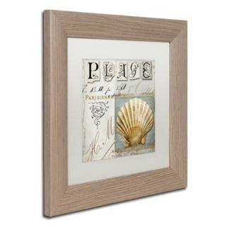 Trademark Fine Art Beach Book I Distressed Framed Wall Art