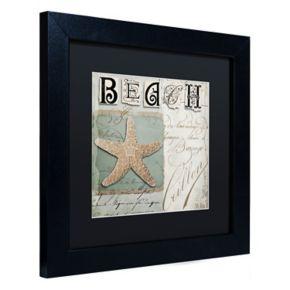 Trademark Fine Art Beach Book II Black Framed Wall Art