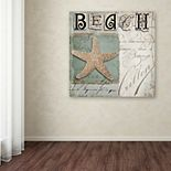 Trademark Fine Art Beach Book II Canvas Wall Art