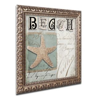 Trademark Fine Art Beach Book II Ornate Framed Wall Art