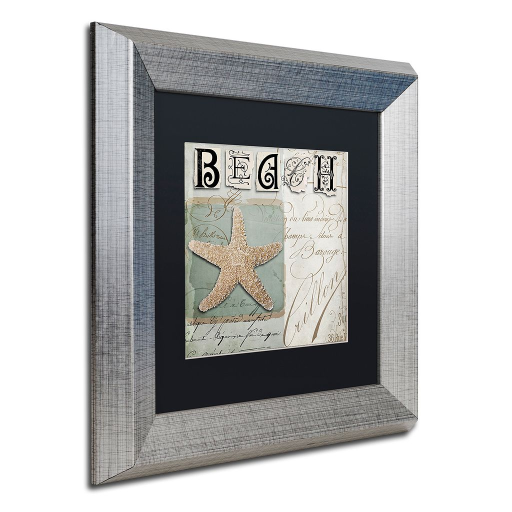 Trademark Fine Art Beach Book II Silver Finish Framed Wall Art