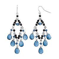 Chaps Blue Teardrop Nickel Free Chandelier Earrings