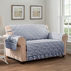 Innovative Textile Solutions Gingham Loveseat Slipcover