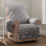 Innovative Textile Solutions Gingham Recliner or Wing Chair Slipcover