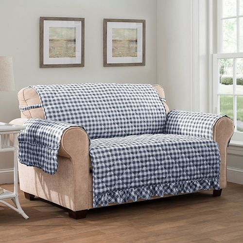 Innovative Textile Solutions Gingham Sofa Slipcover