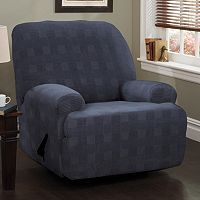 Stretch Sensation Stretch Plaid Jumbo Recliner Slipcover