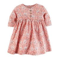 Baby Girl Carter's Pink Floral Print Dress